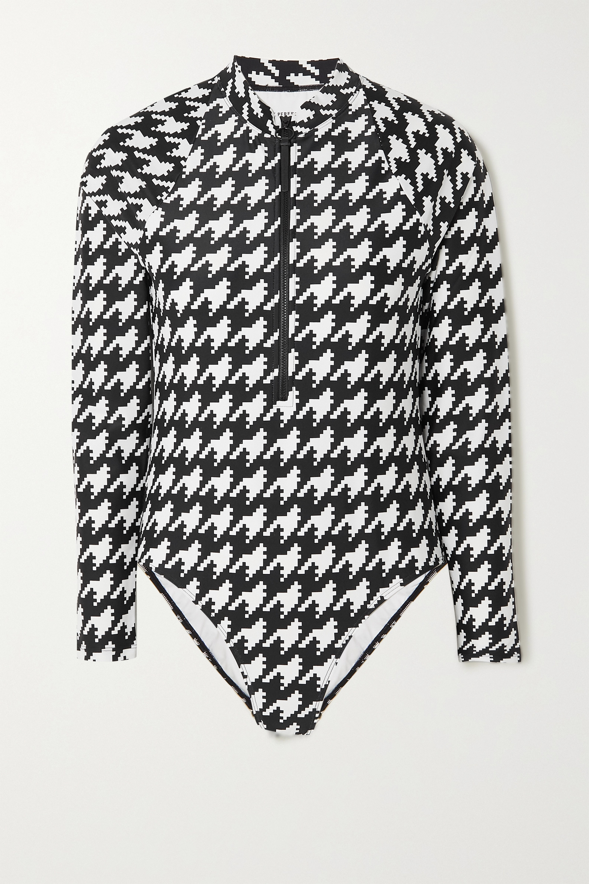 Perfect Moment Houndstooth swimsuit