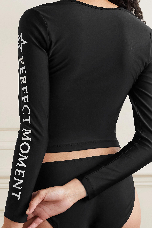 Perfect Moment Printed rash guard and bikini briefs set