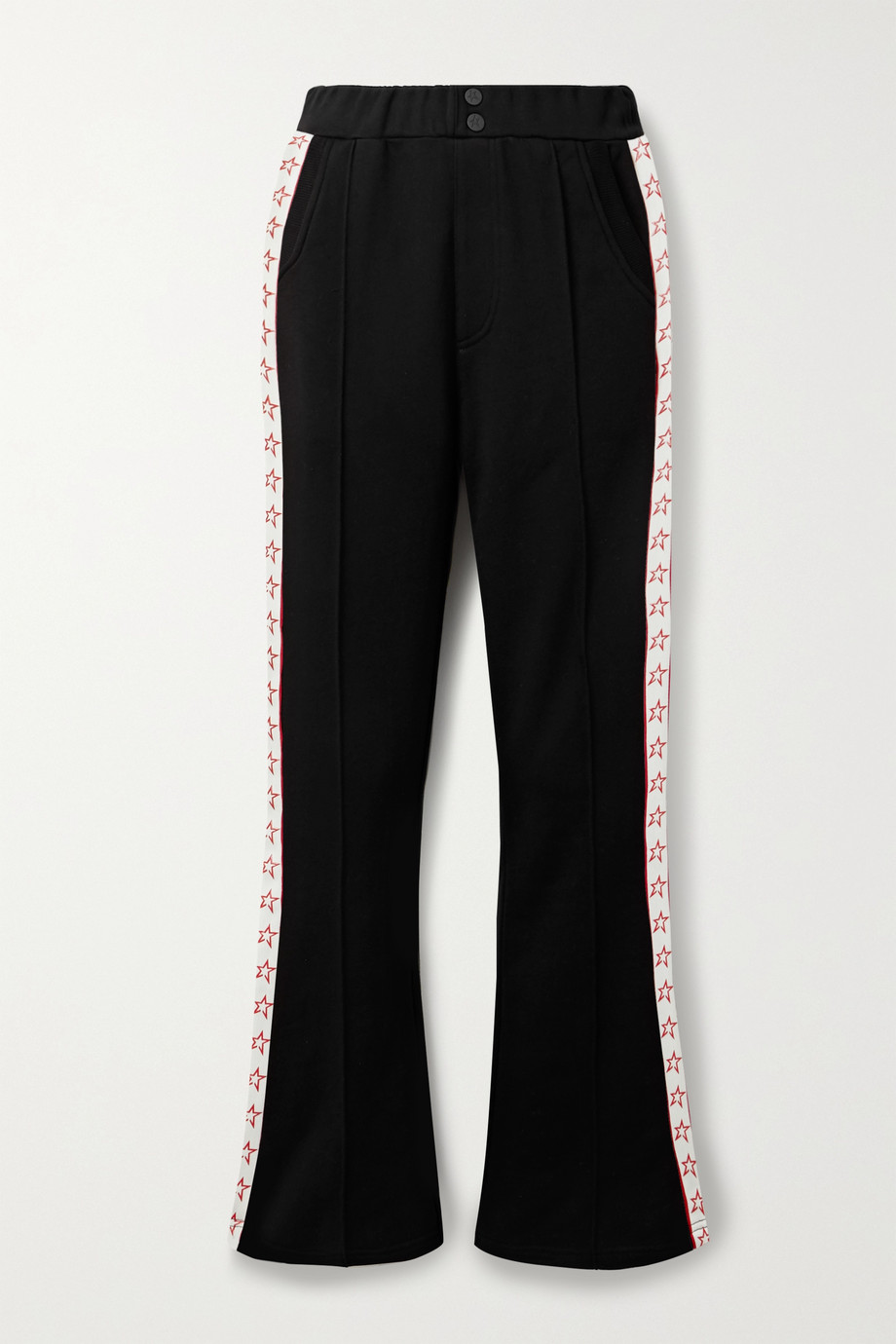 Perfect Moment Star printed grosgrain-trimmed cotton-blend jersey track pants