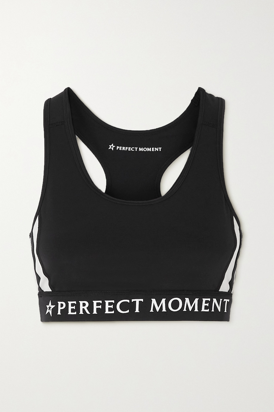 Perfect Moment Printed two-tone stretch sports bra