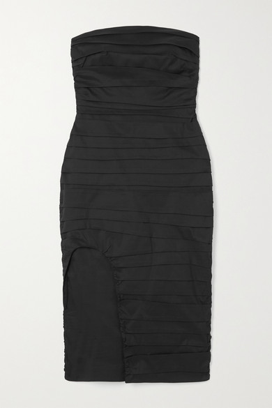 Zeynep Arcay Dresses STRAPLESS RUCHED COTTON DRESS