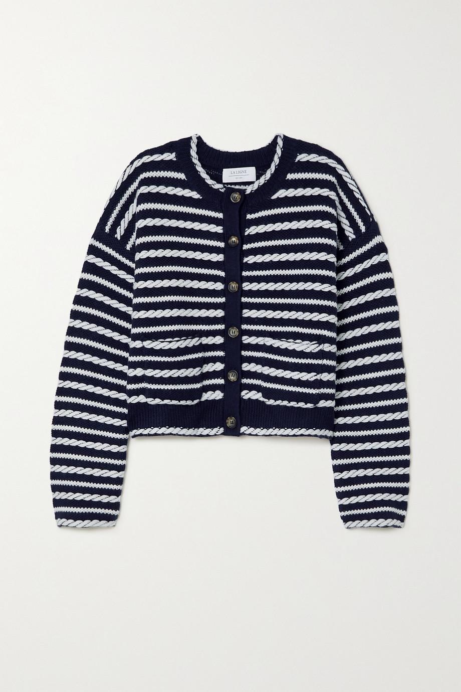 La Ligne Gabrielle braided wool cardigan
