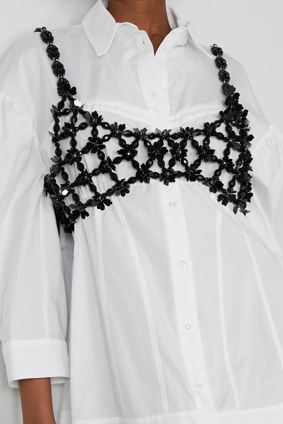 Simone Rocha Crystal-embellished beaded bralette