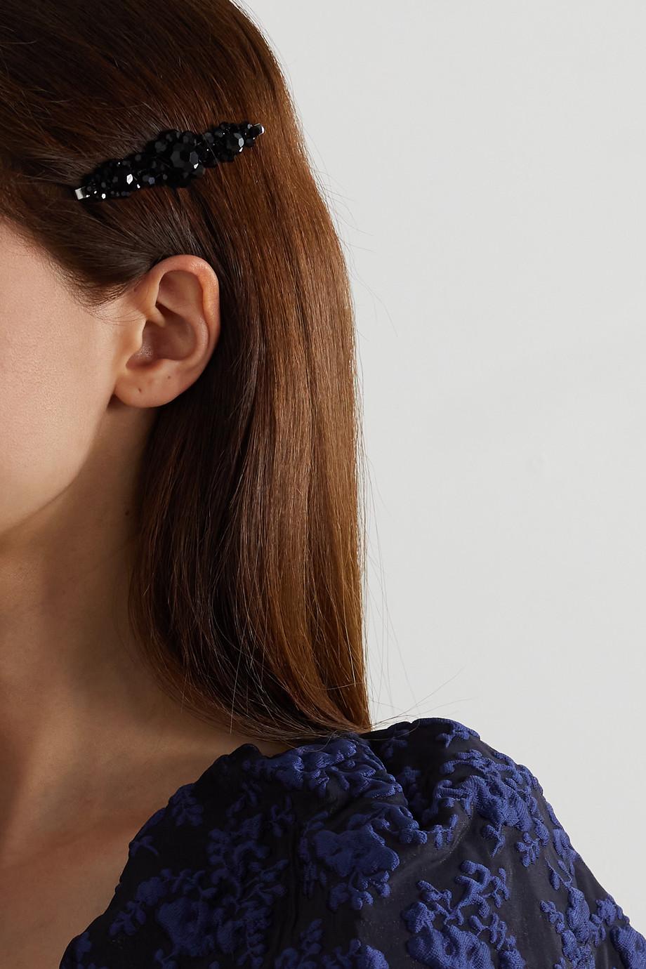Simone Rocha Flower crystal hair slide
