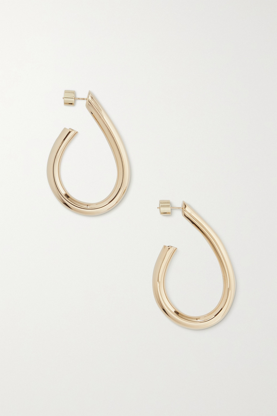 Jennifer Fisher Teardrop Samira mini gold-plated hoop earrings