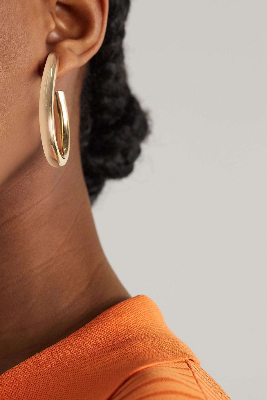 Jennifer Fisher Teardrop Samira mini gold-plated hoop earrings
