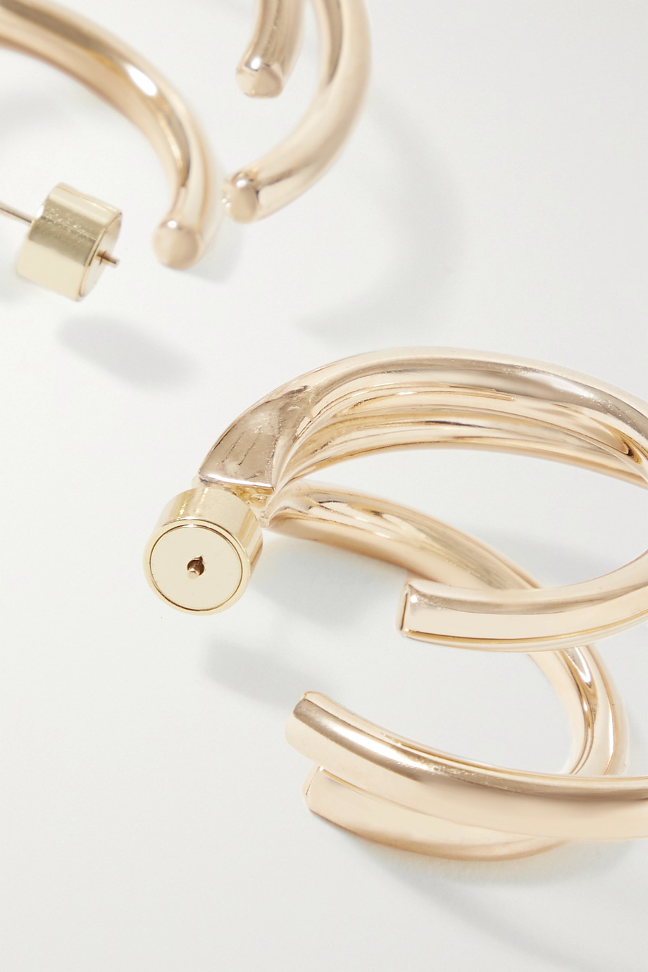Jennifer Fisher Triple Lilly gold-plated hoop earrings