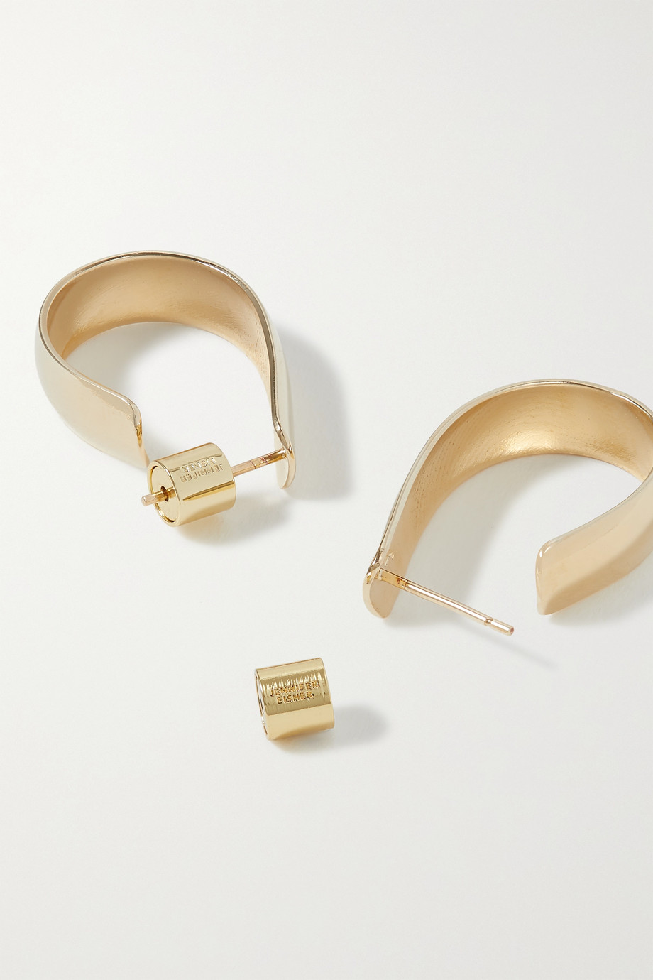 Jennifer Fisher Small Petite Bolden gold-plated hoop earrings
