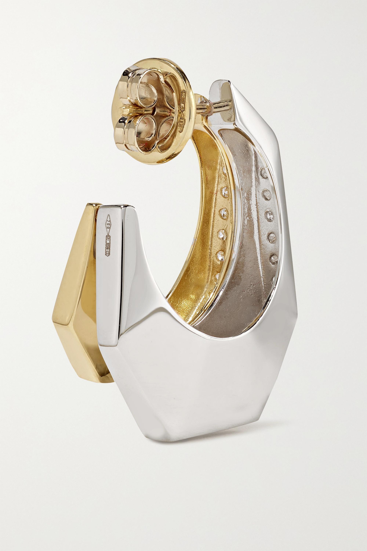 EÉRA Sabrina Creole aus 18 Karat Gelb- und Weißgold mit Diamanten