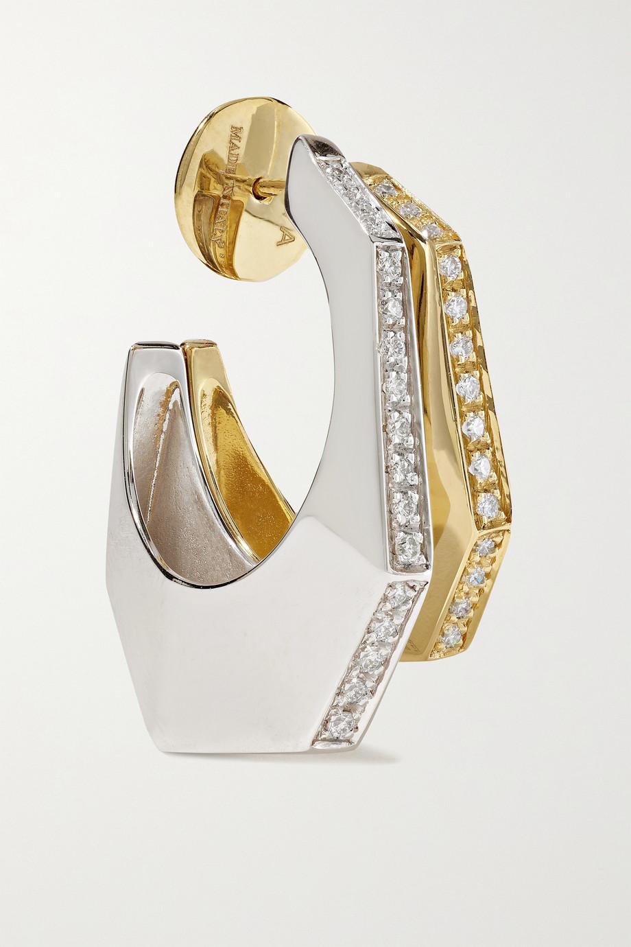 EÉRA Sabrina 18-karat yellow and white gold diamond earring