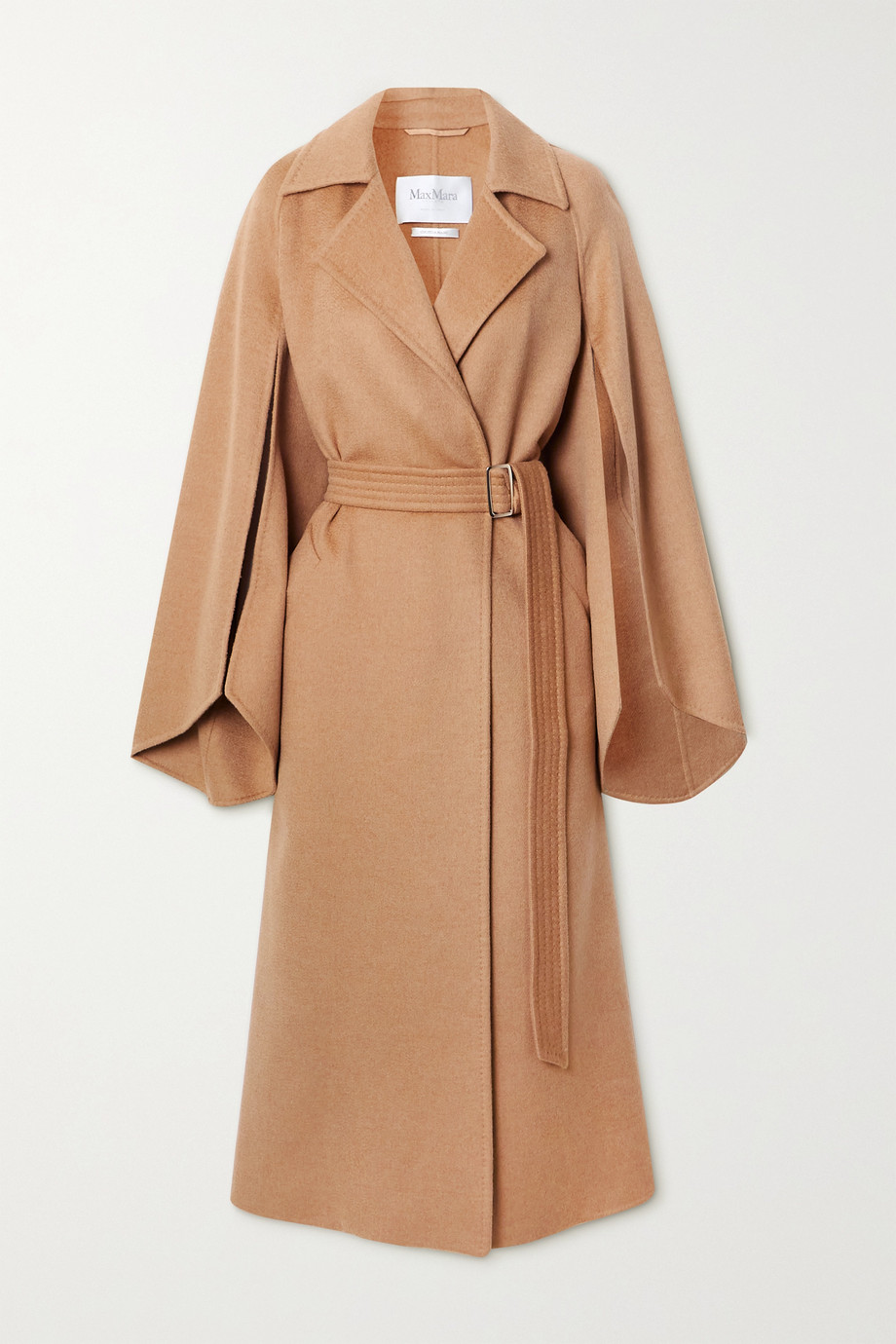 Max Mara Milano belted camel hair coat