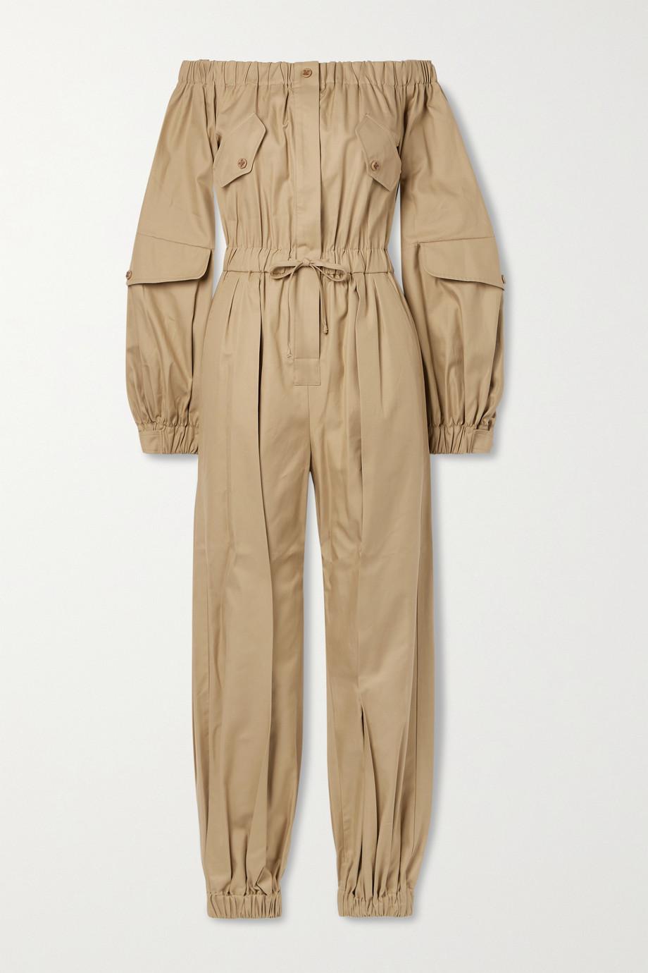 Max Mara Combi-pantalon épaules nues en serge de coton Romana