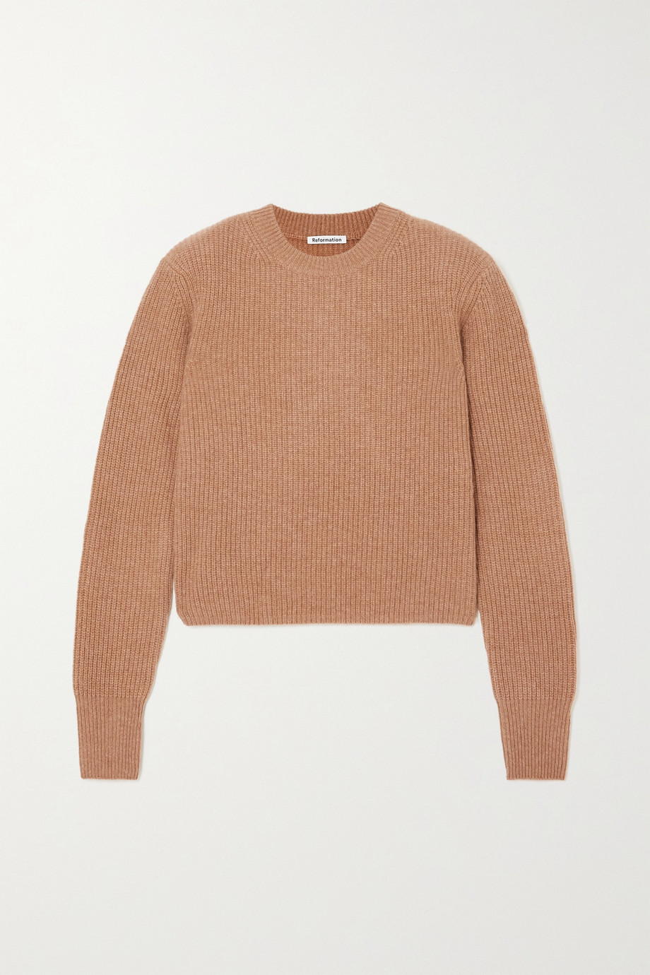 Reformation Cesina ribbed cashmere sweater