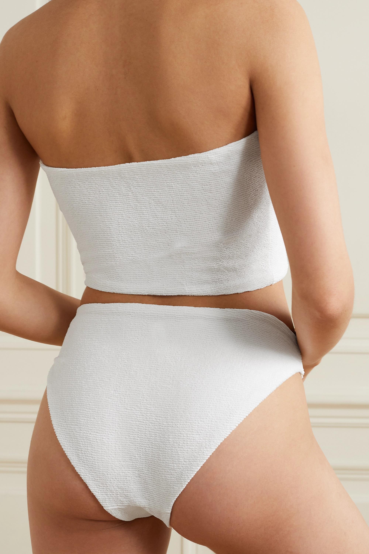 Skin The Leni Bandeau-Bikini-Oberteil aus Seersucker