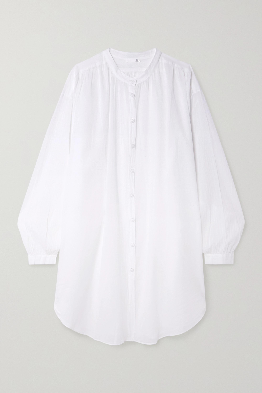 Skin Brea oversized cotton-voile kaftan