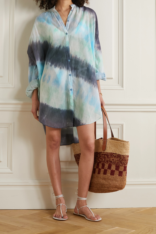 Skin Brea Oversized-Kaftan aus Baumwoll-Voile mit Batikmuster