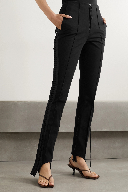 Helmut Lang Aviator lace-up stretch-cotton twill slim-leg pants