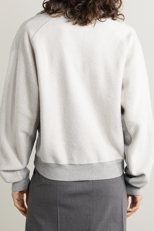 Helmut Lang Fleece and mélange cotton-blend sweatshirt