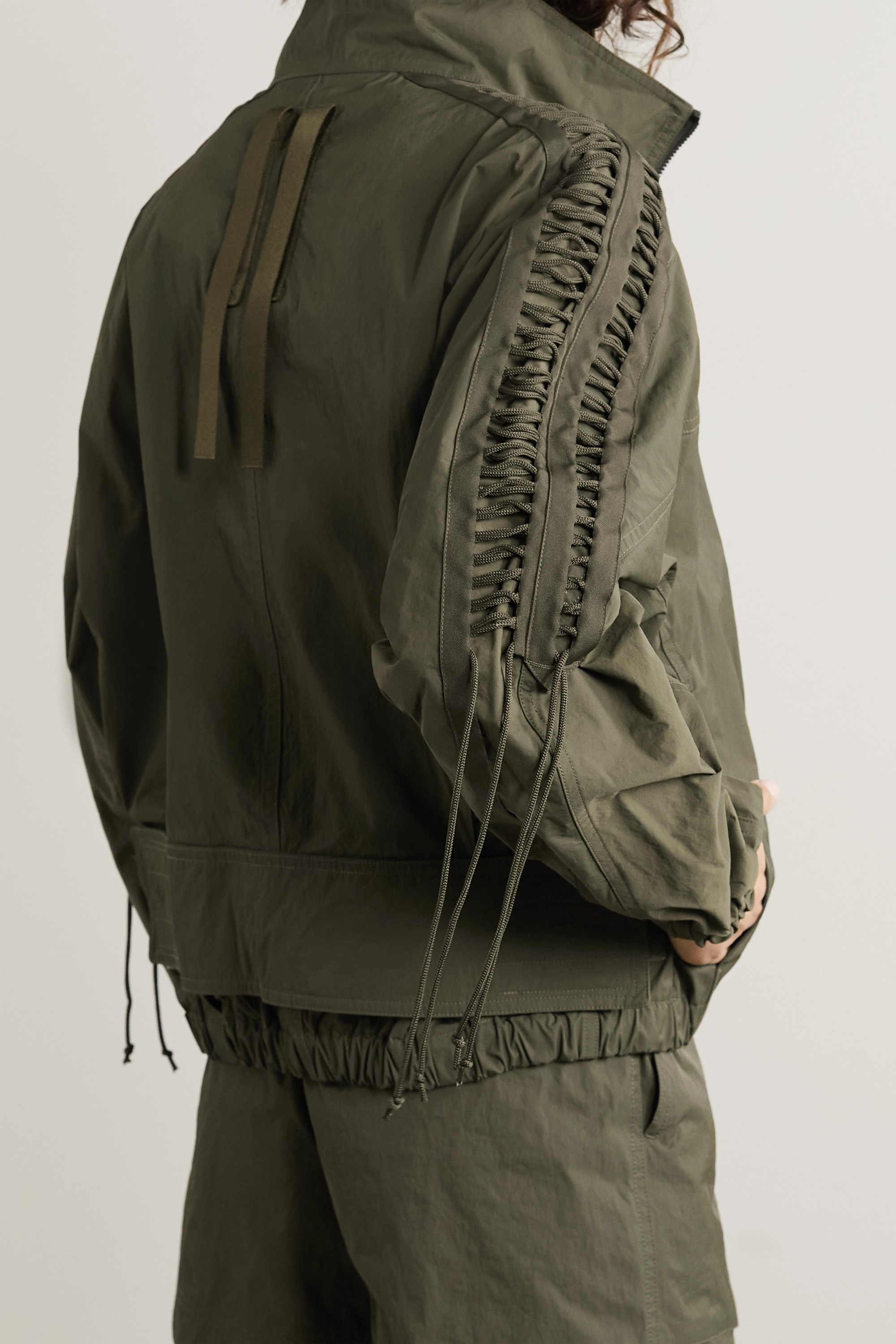 Helmut Lang Lace-up twill jacket