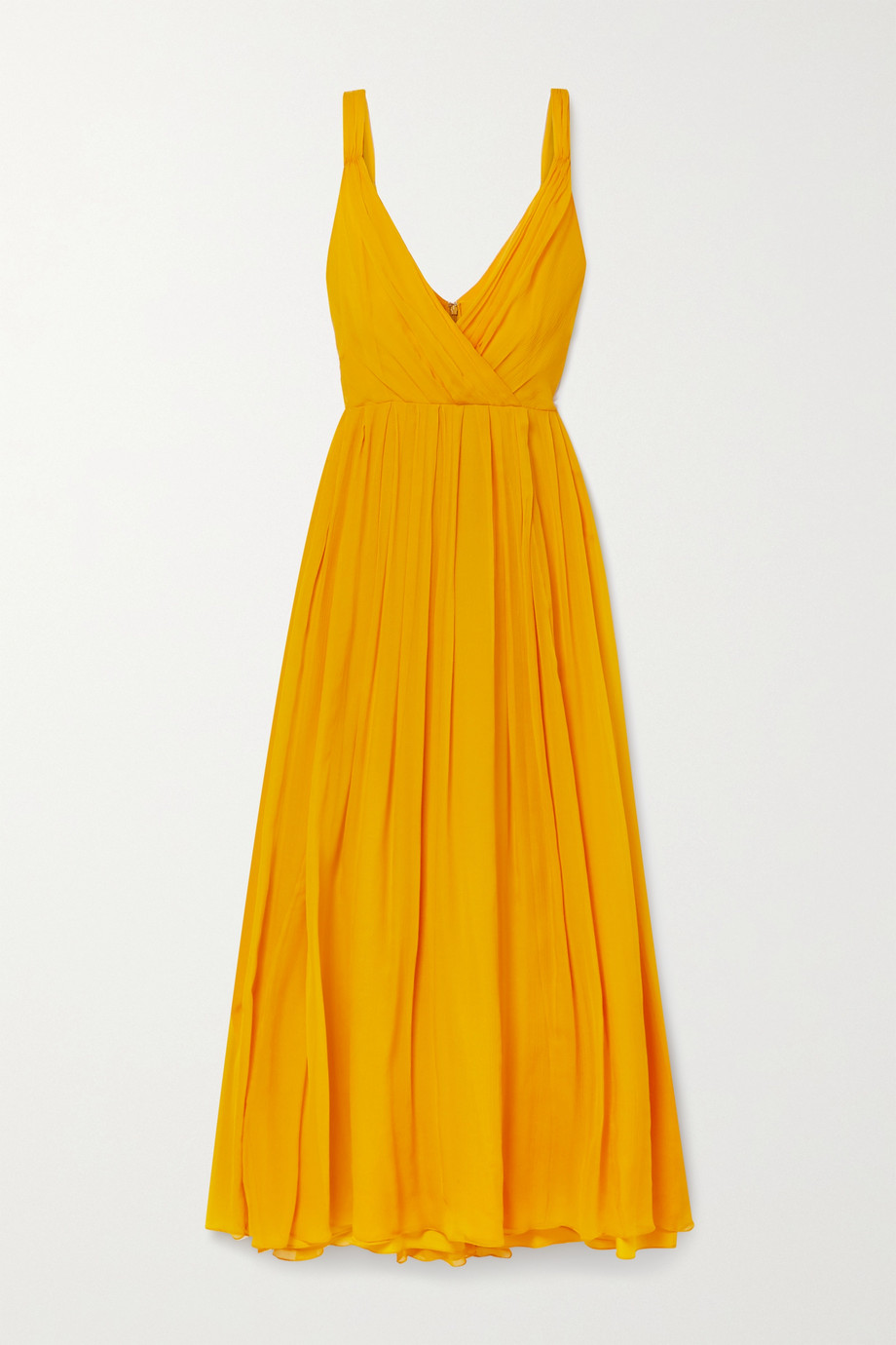 Jason Wu Wrap-effect crinkled silk-chiffon maxi dress