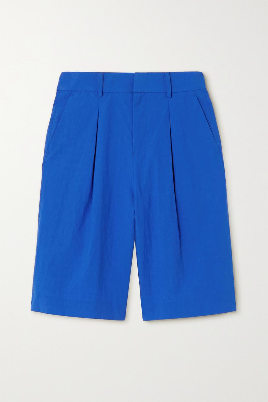 Jason Wu Pleated crinkled-cotton shorts
