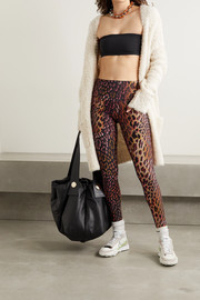 Twin Fantasy Leopard-print stretch leggings