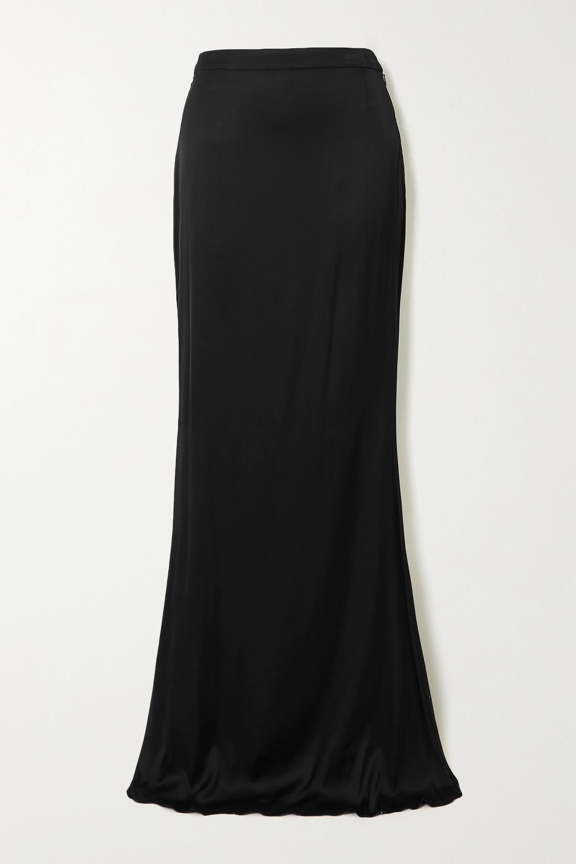 Halpern Stretch-satin maxi skirt