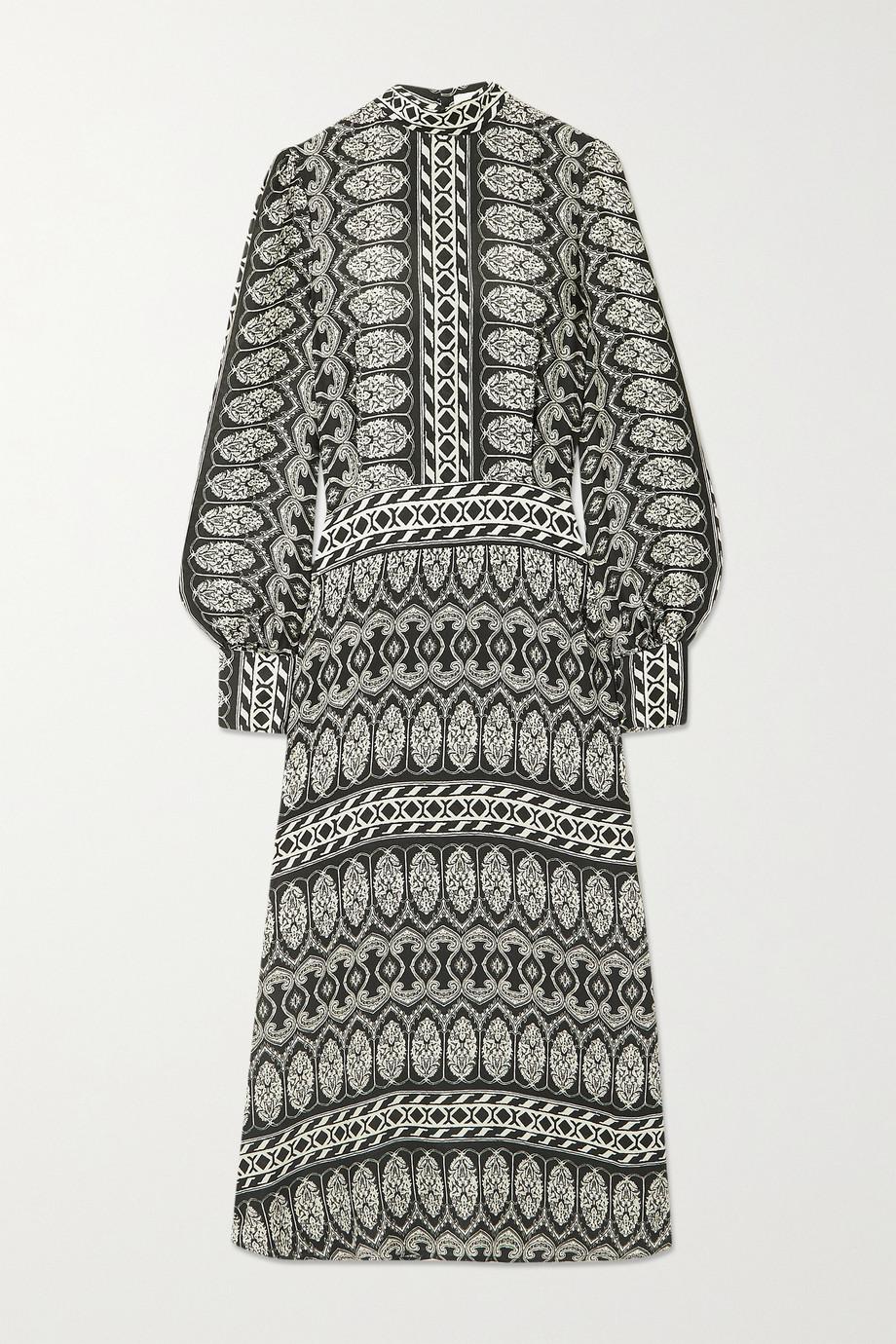 Officine Générale Josephine printed woven midi dress