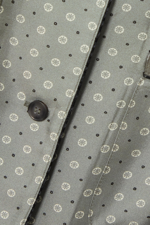 Officine Générale Alana printed silk-twill shirt