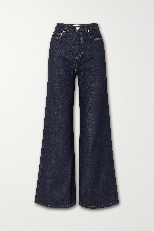 Officine Générale Romy hoch sitzende Jeans mit weitem Bein