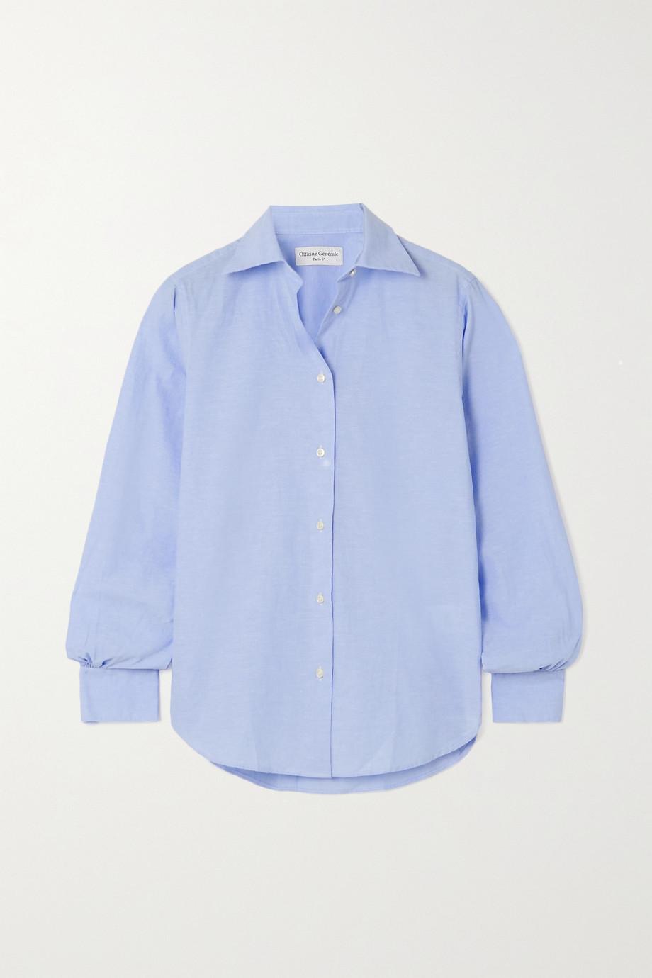 Officine Générale Ella cotton and linen-blend shirt