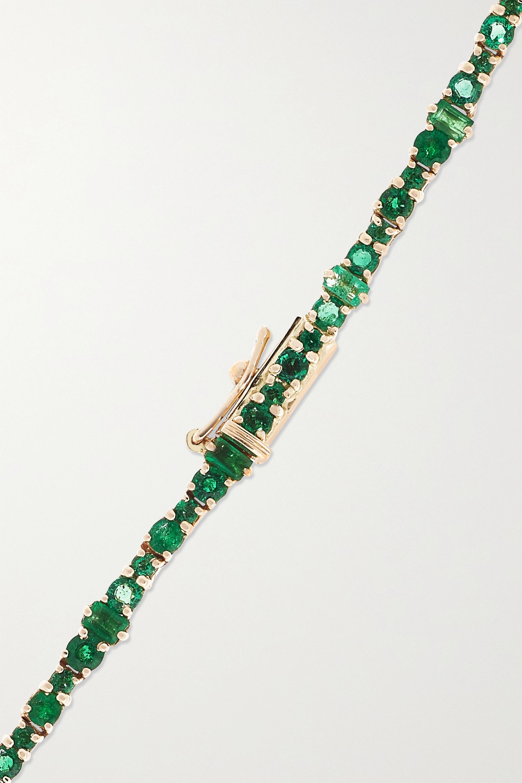 Ileana Makri Kette aus 18 Karat Gold mit Smaragd