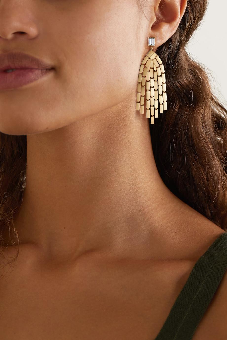 Ileana Makri Boucles d'oreilles en or 18 carats et diamants Cascade