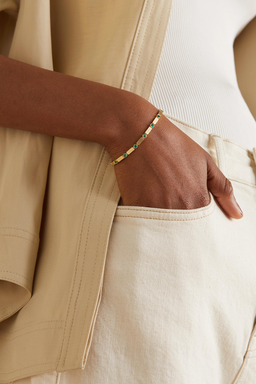 Ileana Makri Armband aus 18 Karat Gold mit Smaragden