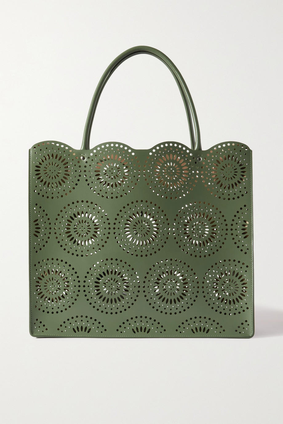 Alaïa Garance medium scalloped laser-cut leather tote