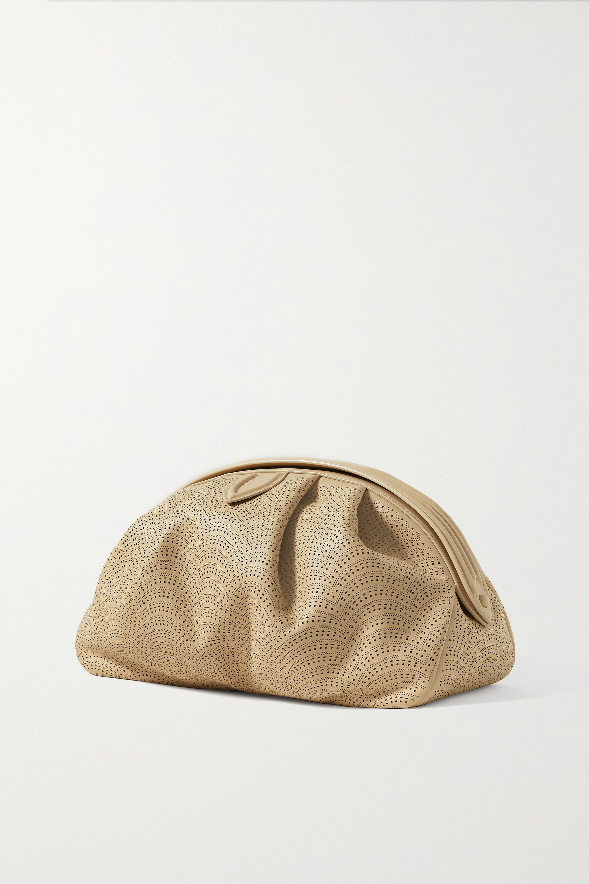 Alaïa Samia laser-cut leather clutch