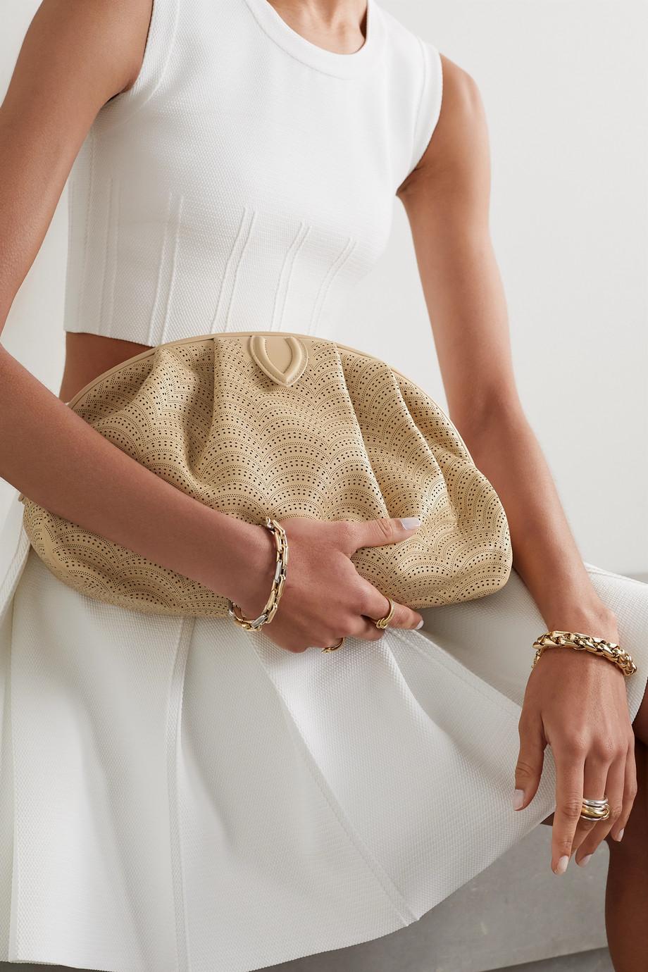 Alaïa Samia laser-cut leather clutch