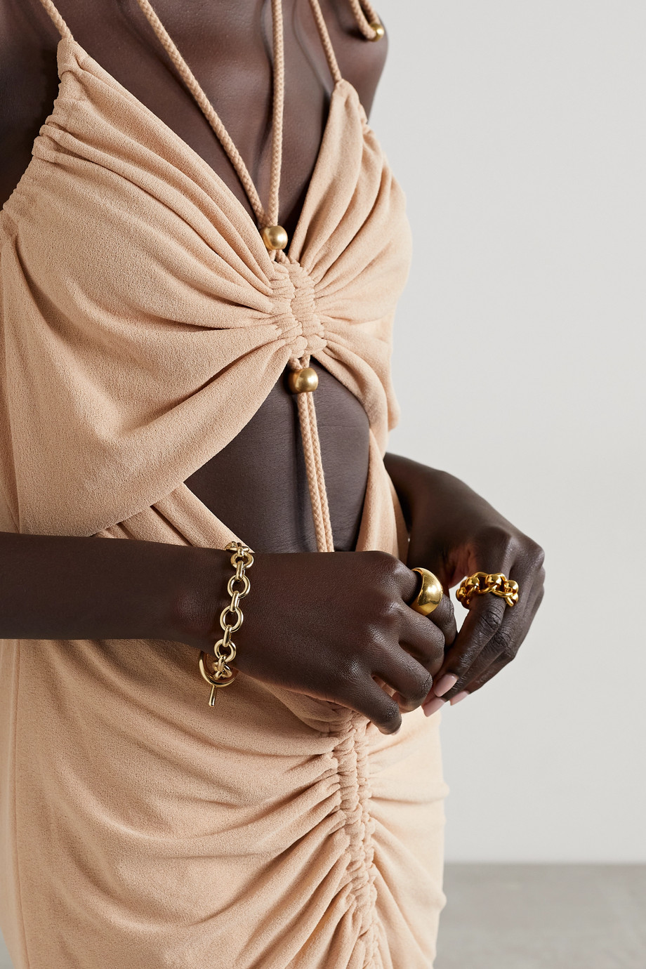 Laura Lombardi Bracelet en plaqué or Portrait