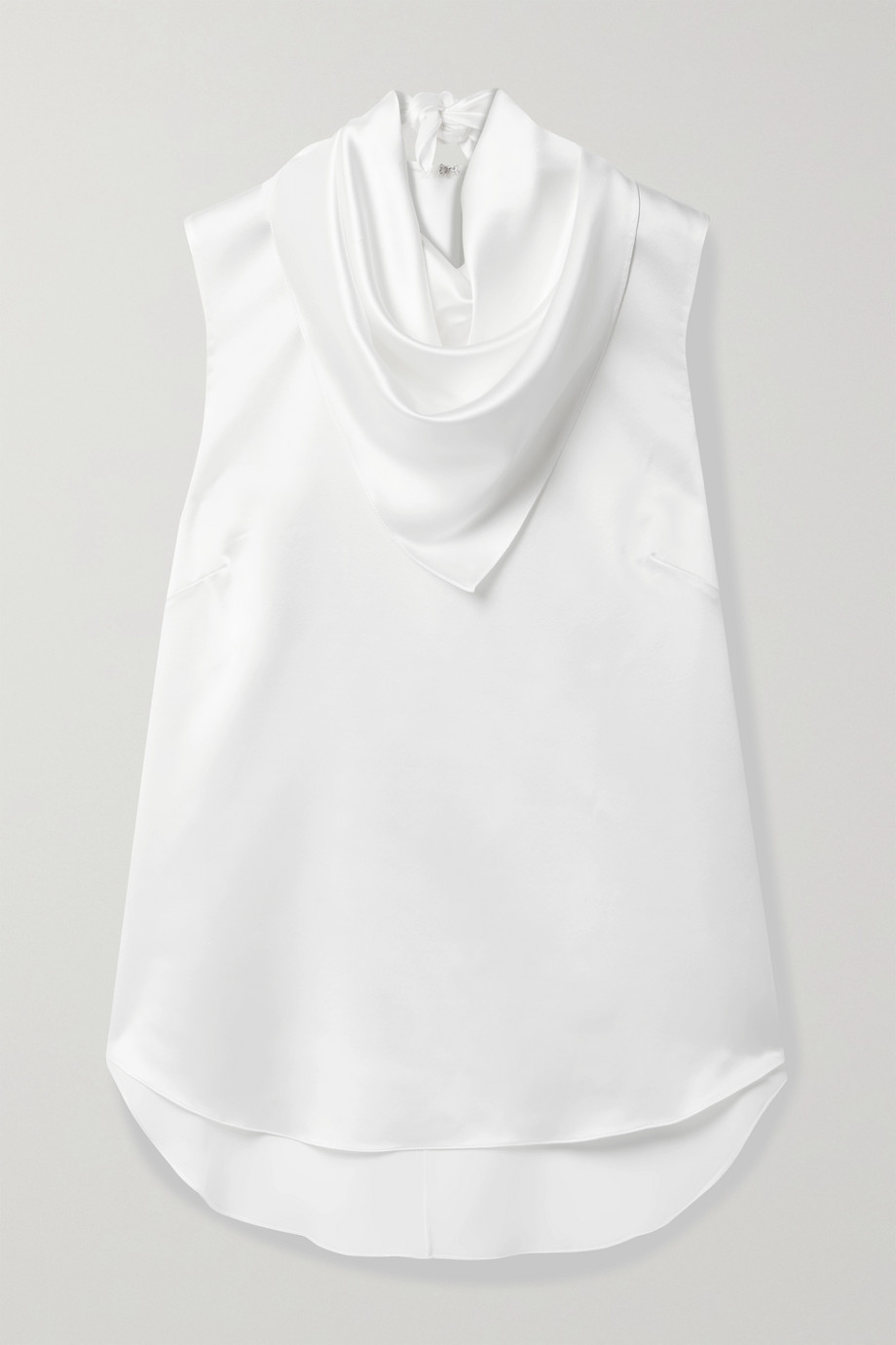 Adam Lippes Draped silk-charmeuse blouse