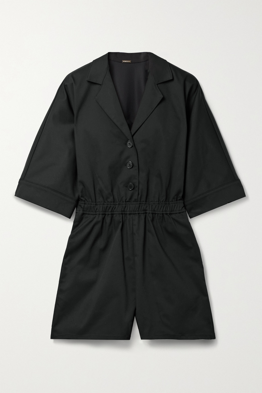 Adam Lippes Cotton-blend twill playsuit