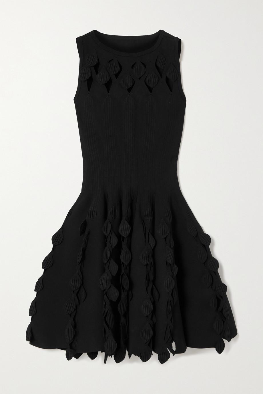 Alaïa Cutout stretch-knit mini dress