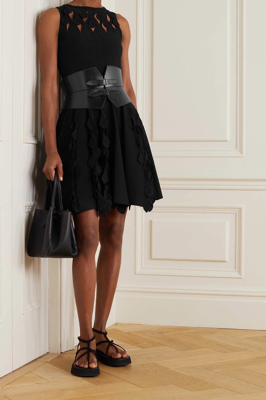 Alaïa Minikleid aus Stretch-Strick mit Cut-outs