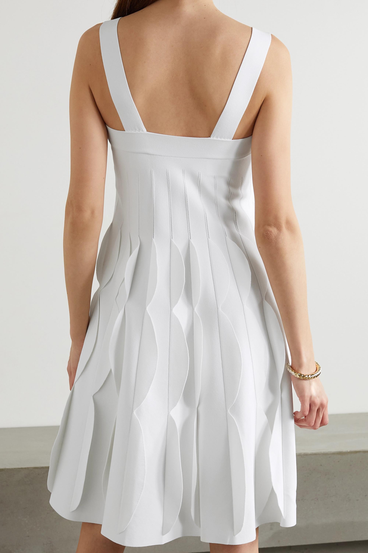 Alaïa Scalloped stretch-knit dress