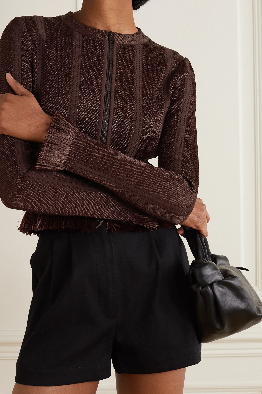 Alaïa Fringed stretch-knit jacket