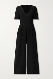 Alaïa Scalloped stretch-knit jumpsuit