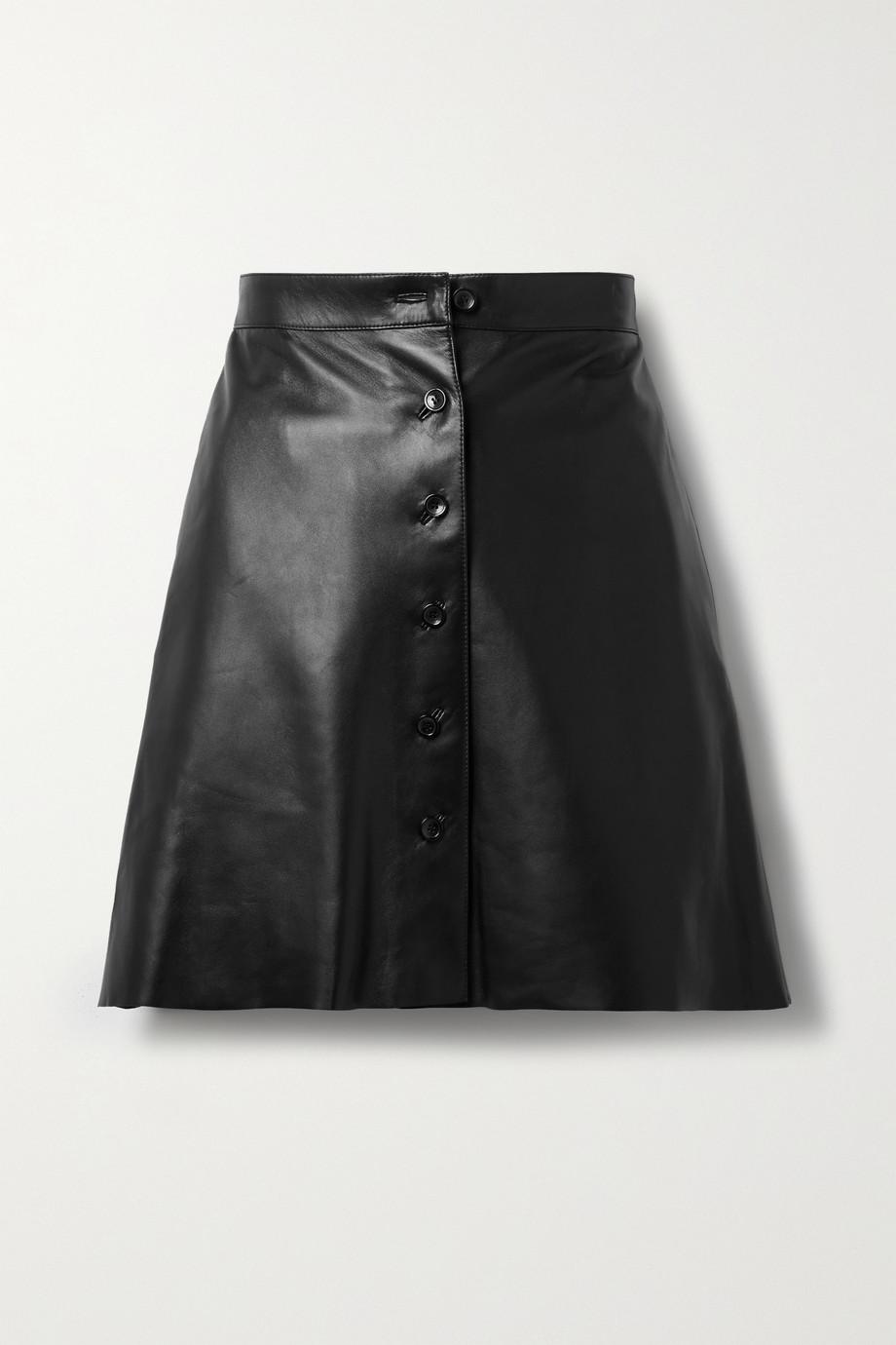 Alaïa Pleated leather mini skirt