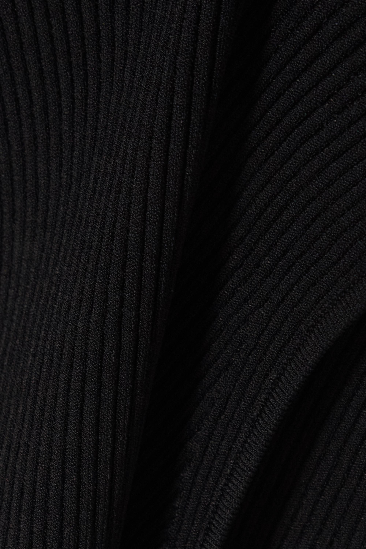 Alaïa Ribbed-knit turtleneck top