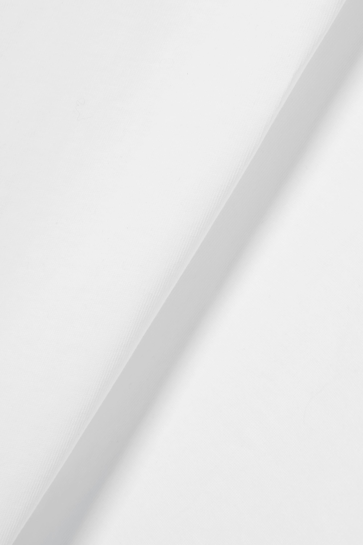 Alaïa Tie-front poplin-trimmed cotton-jersey T-shirt