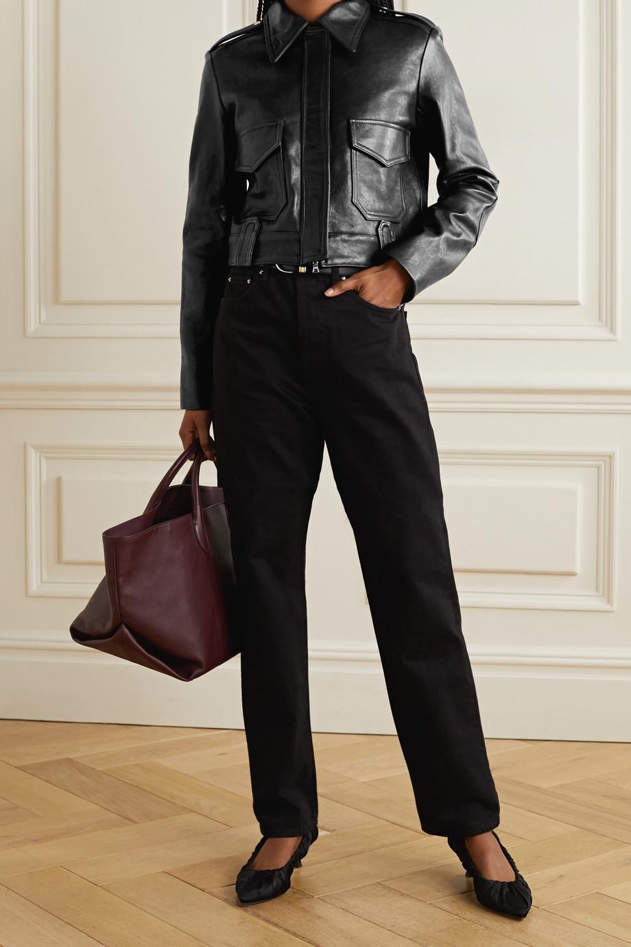 Khaite Cordelia cropped leather jacket