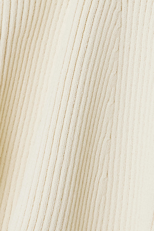 Khaite Haut bustier en mailles côtelées Lucie